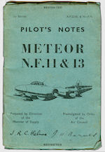 Pilots Notes Meteor NF1104